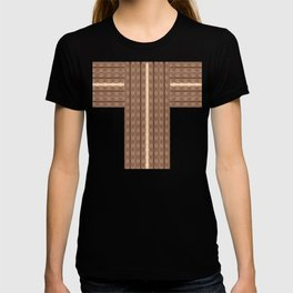 Leather stitches T-shirt
