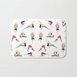 Yoga Pattern Bath Mat