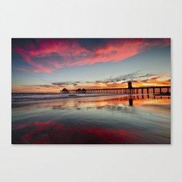 Huntington Beach Sunsets  8/5/15  Canvas Print