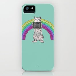 Lomo Kitten with his Holga camera  iPhone Case