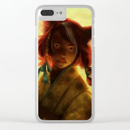 Spirit of Summer Clear iPhone Case