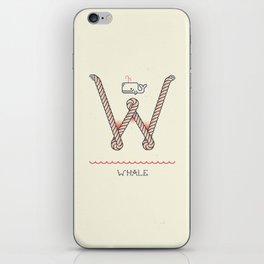 Ahoy! Letter W iPhone Skin