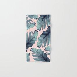 Blush Banana Leaves Dream #9 #tropical #decor #art #society6 Hand & Bath Towel