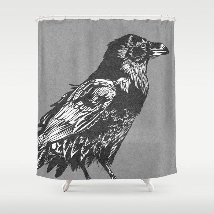 Raven Grey Shower Curtain