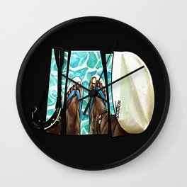 The Swimmer Wall Clock