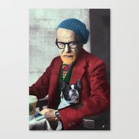 freud Canvas Prints featuring Freud by Joaquin