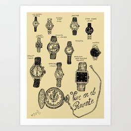 Watches Art Print