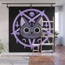 Black Meowgic 03 Wall Mural