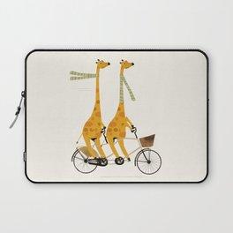 lets tandem giraffes Laptop Sleeve
