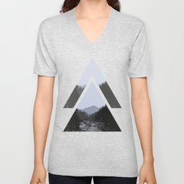 Triangle Mountains Unisex V-Neck