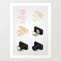 isometric tutorial 6 steps Art Print