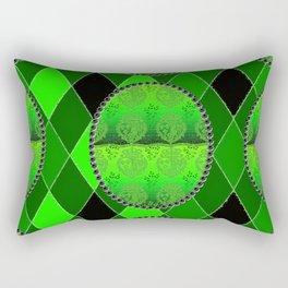 Fleur De Lis Holiday FDL Green Rectangular Pillow