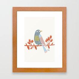 Observing Birdie Framed Art Print