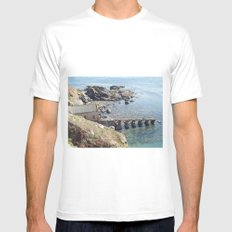 Lifeboat Station, Cornwall Mens Fitted Tee MEDIUM White