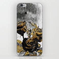 Flowers Bloom As Black As Night iPhone & iPod Skin