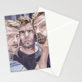 Team Free Will 2.: Misha Collins; Jared Padalecki and Jensen Ackles, watercolor painting Stationery Cards