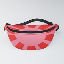 Pink Red Summer Sun Fanny Pack