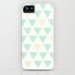 Dotted Triangle Print iPhone Case