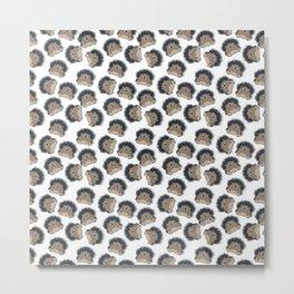 Hedgehog pattern Metal Print
