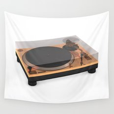 Golden Turntable Wall Tapestry