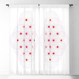 Tetractys - 144 Circles Blackout Curtain