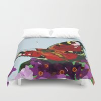 butterfly Duvet Covers featuring Butterfly   by Marjolein