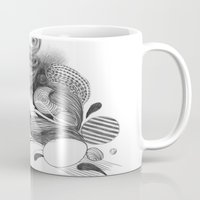 beethoven Mugs featuring Beethoven by Wendy Ding: Illustration
