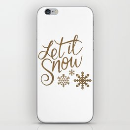 Let it Snow iPhone Skin