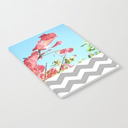 Floral and Chevron Notebook