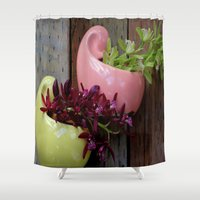 sister Shower Curtains featuring Sister Love by oneofacard