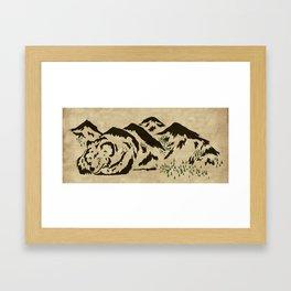 Sleepy Bear Mountain Framed Art Print