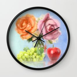 Bouquet Mon Amour Wall Clock