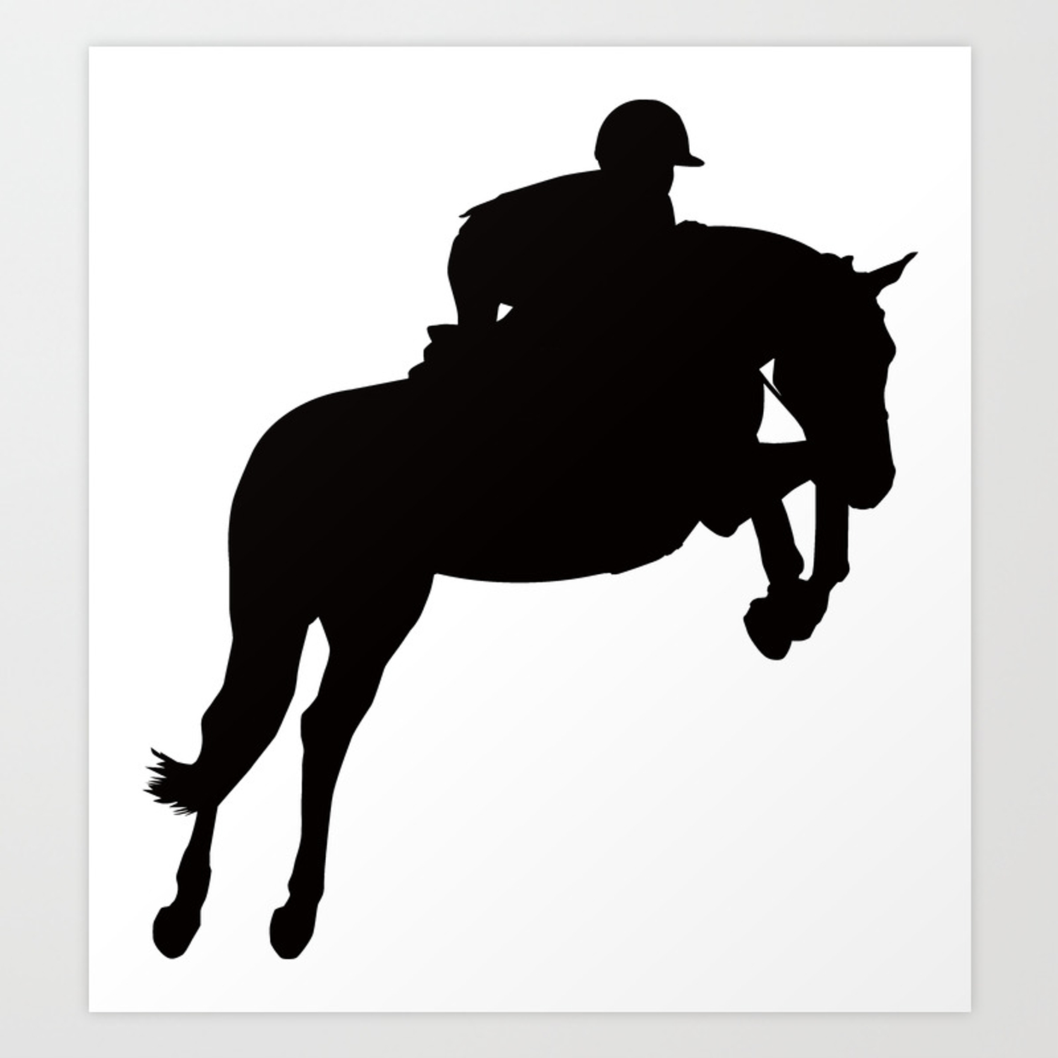 Jumping Horse Silhouette Art Print By A Slice Society6