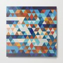 Geometric Triangle Blue, Brown  - Ethnic Inspired Pattern by pelaxy
