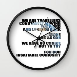 Travellers - Explorers quote Wall Clock