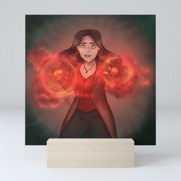 the scarlet witch Mini Art Print