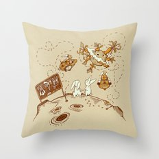 Three Step Plan Throw Pillow