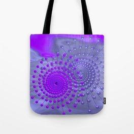 violet and blue spirals Umhängetasche