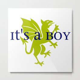 It's a Boy: Golden Dragon Metal Print