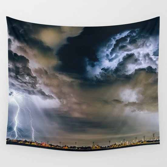 Lightning #clouds Wall Tapestry