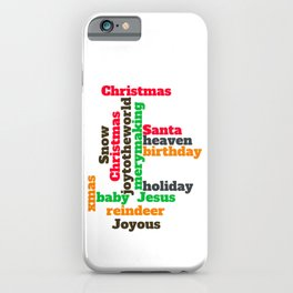 Christmas wordcloud  iPhone Case
