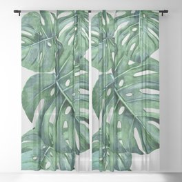 Monstera Sheer Curtain