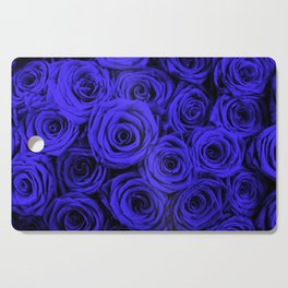 blue roses Cutting Board