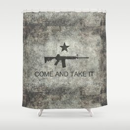 Come and Take it Flag with AR-15 Shower Curtain