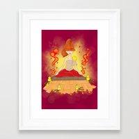meditation Framed Art Prints featuring Meditation by KeijKidz