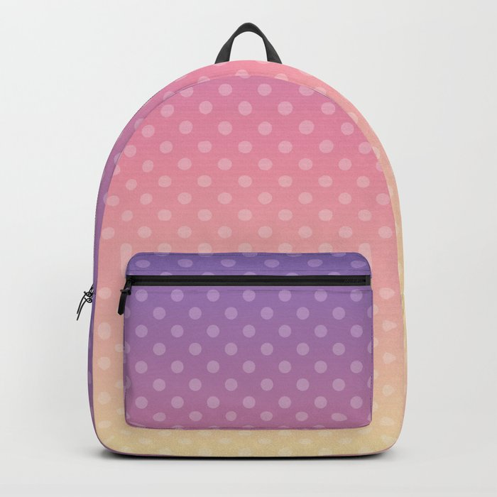 Lilac pink yellow Ombre . Backpack
