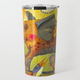 Enamored elephant Travel Mug