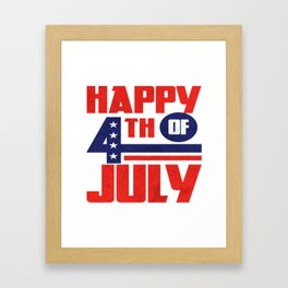 Independence Day 4th July American Merica Gift Framed Art Print
