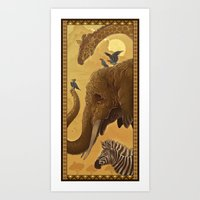 africa Art Prints featuring Africa by Miguel Co
