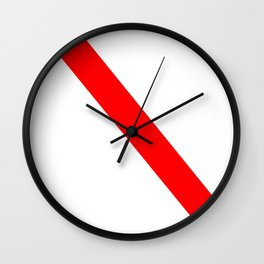 flag of strasbourg Wall Clock
